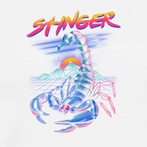 Stinger, Neon infused scorpion - Men's Premium T-Shirt