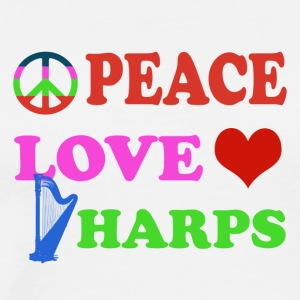 Peace love Harps - Men's Premium T-Shirt