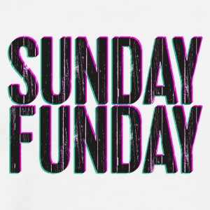 Sunday Funday 3D look typeface pink/turquoise - Men's Premium T-Shirt