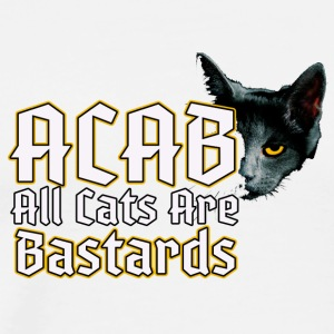 all cats are bastards - ACAB - Men's Premium T-Shirt