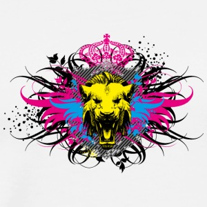 Head lion crown street figure rap wildlife - Men's Premium T-Shirt