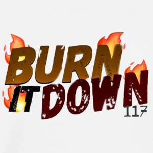 (FADED) BURN IT DOWNFROM SPECTRUM COLLECTION! - Men's Premium T-Shirt