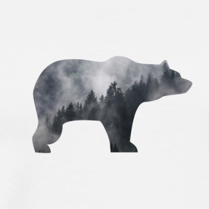 bear in smoky forest - Men's Premium T-Shirt