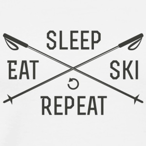 EAT. SLEEP. SKI. REPEAT. - Men's Premium T-Shirt