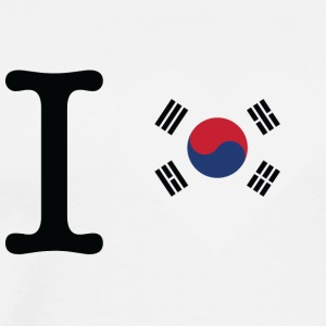 I Love South Korea - Men's Premium T-Shirt