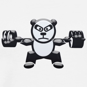 Weightlifting Panda Bear Squat - Men's Premium T-Shirt