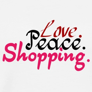 Love.Peace.Shopping. - Men's Premium T-Shirt