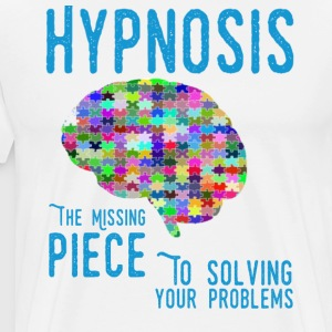 Hypnosis the Missing Piece to solving your problem - Men's Premium T-Shirt