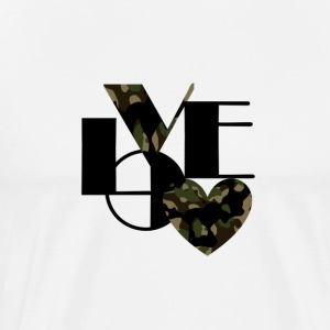 Love Black and Camouflage - Men's Premium T-Shirt