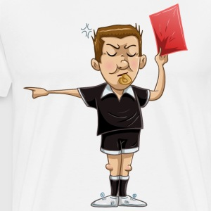 Soccer Referee Holds Red Card - Men's Premium T-Shirt