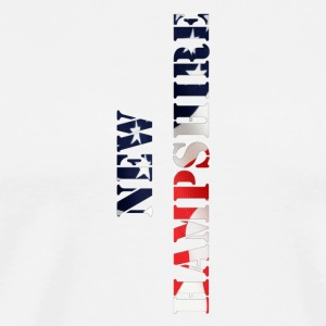 New Hampshire Flag Design - Men's Premium T-Shirt
