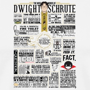THE WISE WORDS OF DWIGHT SCHRUTE - Men's Premium T-Shirt