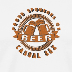 Cool beer Beer proud sponsors of casual sex - Men's Premium T-Shirt