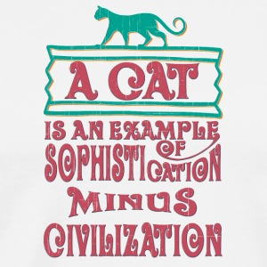 colored cats designs A cat is an example of sophis - Men's Premium T-Shirt