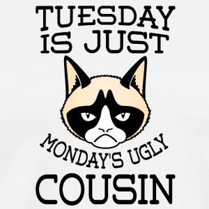 grumpy cat Tuesday is just Monday s ugly cousin - Men's Premium T-Shirt