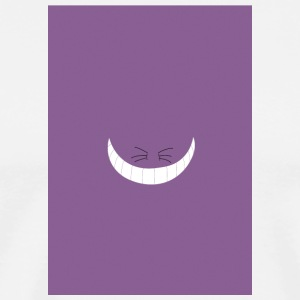 minimalist cheshire cat w lightly grainy backgroun - Men's Premium T-Shirt