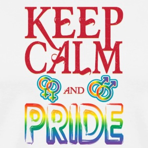 Gay t shirts Keep calm and pride on - Men's Premium T-Shirt