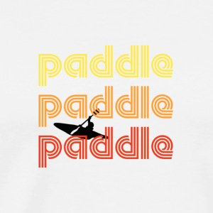 Retro Paddle... - Men's Premium T-Shirt