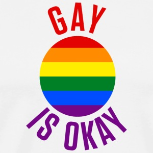 Gay Is Okay - Pride Rainbow - Men's Premium T-Shirt