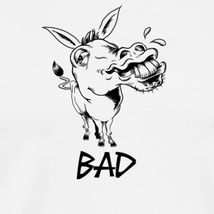 BAD ASS donkey funny design - Men's Premium T-Shirt