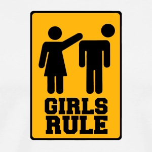Girls rule sign - Men's Premium T-Shirt