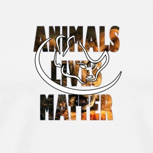 animal lives matter - Men's Premium T-Shirt