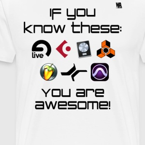 If you know these DAW templates - you are awesome! - Men's Premium T-Shirt