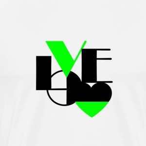 Love Black and Lime - Men's Premium T-Shirt