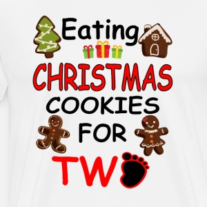 Pregnancy Shirt Eating Christmas Cookies For Two