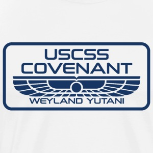USCSS Covenant with border - Men's Premium T-Shirt