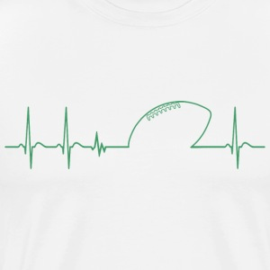 Heartbeat american football player cool fun gift - Men's Premium T-Shirt