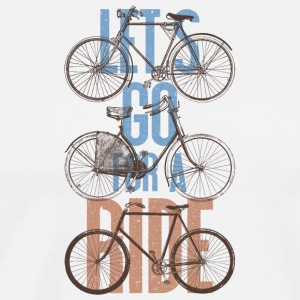 Vintage Bicycle Let's Go For A Ride -Retro Bikes - Men's Premium T-Shirt