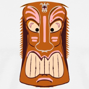 Tiki Mask Graphic Art - Men's Premium T-Shirt