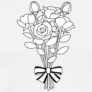 bouquet clipart outline flower 12