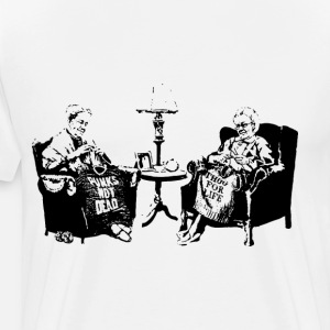 Banksy Graffiti Grannies Knitting Grandmas