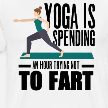 funny fart yoga for women  men breaking wind pose light