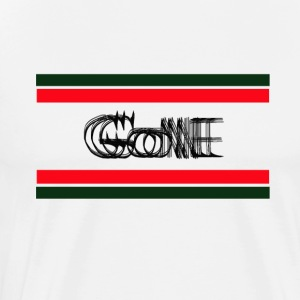Gone T-shirt design with green and red color