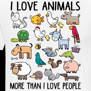 I love animals more than I love people