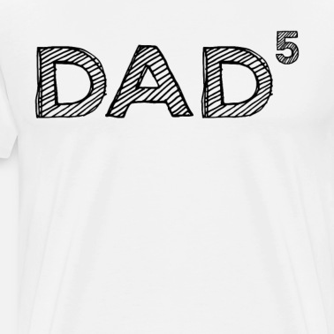TooLoud Dad to The Fifth Power Dad of Five Toddler T-Shirt Dark
