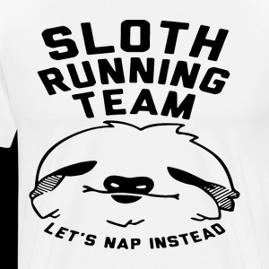 Sloth running team let's nap instead