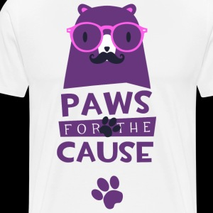 Paws for the cause animal pet funny t-shirt humor