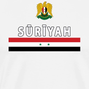 Suriyah Syrian National Emblem and Flag Premium