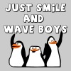 Just smile and wave boys - Men's Premium T-Shirt