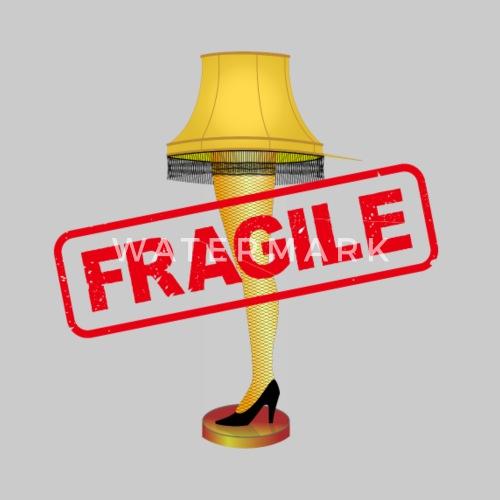a christmas story leg lamp fragile by barrelroll spreadshirt