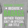 Badass Massage Therapist Professions T Shirt - Men's Premium T-Shirt
