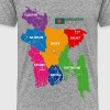 Bangladesh Political Map - Men's Premium T-Shirt