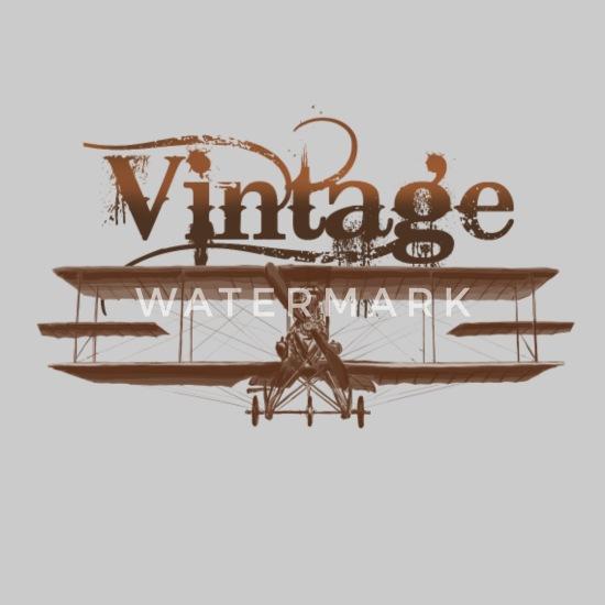 Vintage airplane Men's Premium T-Shirt - heather gray