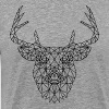 Polygonal Deer Black - Men's Premium T-Shirt