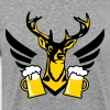 23 deer party fun funny love stag nigh wild drunk - Men's Premium T-Shirt