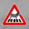 Attention Zebra on crosswalk - Men's Premium T-Shirt
